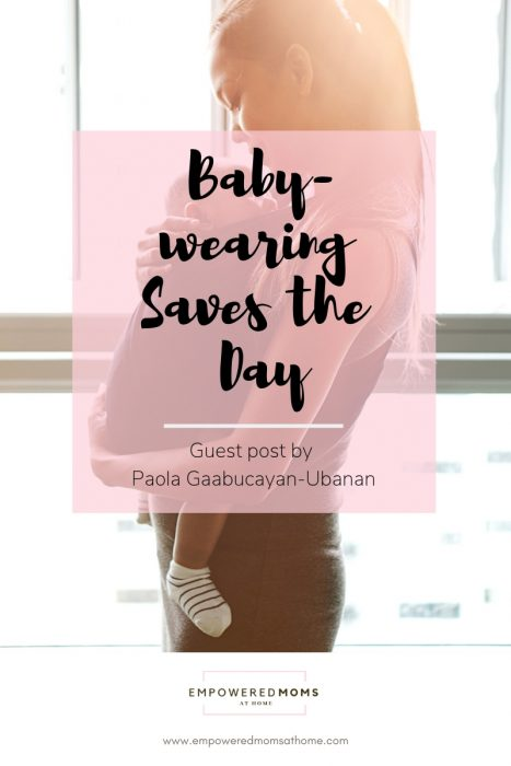 Babywearing Saves the Day | Guest Post