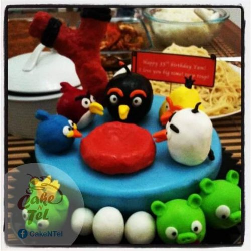 Make Money From Home as a Stay-at-Home Mom - Angry Birds Themed Cake
