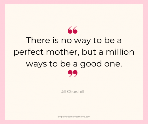 successful stay-at-home mom - quote from Jill Churchill.